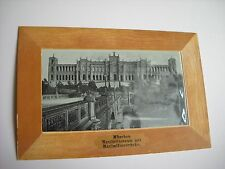 Antique Set of Munich Postcards with Border and Colored Cellophane Covering Unus