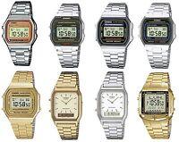 Casio Retro Digital Alarm Stopwatch Chronograph Silver / Gold Gents Watches