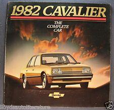 1982 Chevrolet Cavalier Catalog Sales Brochure CL, Wagon Excellent Original 82