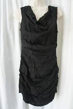B44 Dressed Dress Sz M Black Sleeveless Cowl Neck Cocktail Evening Dinner Dress