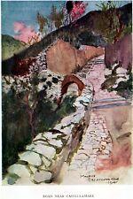 STRADA PRESSO CASTELLAMMARE DI STABIA.Stabiae.Golfo di Napoli. Passepartout.1907