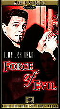 VHS Force of Evil: John Garfield Thomas Gomez Marie Windsor Beau Bridges Backus