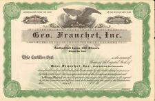 Geo. Franchet > New York stock certificate share scripophily