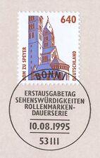 BRD 1995: Dom von Speyer! SWK Nr 1811 mit Bonner Ersttagssonderstempel! 1A 1703