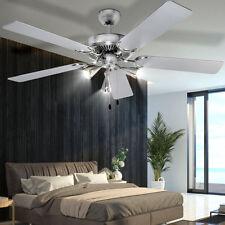 design de luxe 5-flügel climat Ventilateur Plafond lampe acier inox salle à
