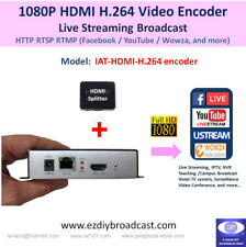 HDMI 1080P H.264 encoder HTTP RTSP ONVIF RTMP YouTube Facebook live streaming
