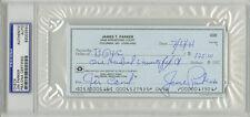 Jim Parker SIGNED PERSONAL CHECK Baltimore Colts (DEC) PSA/DNA AUTOGRAPHED Slab