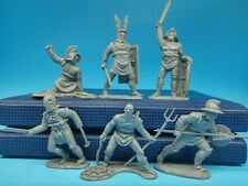 Gladiators knights Plastic set 6 figures Toy Soldiers Roman Colliseum
