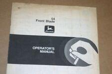 Jd John Deere 54 Front blade Operators Manual