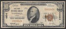 1929 $10   ❀❀ VANDALLA, IL ❀❀