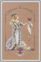 MIRABILIA Counted Cross Stitch Chart AND Charm!  LADY MIRABILIA 25th Anniversary