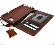 genuine leather Case for samsung galaxy note 5 book wallet handmade stand rubber