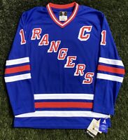 New York Rangers 1991-97 Mark Messier NHL Hockey Jersey Medium Fanatics Vintage