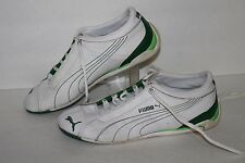 PUMA Repli Cat IITrainers, #301844-02, White/Green, Leather, Women's US Size 7.5
