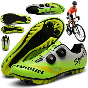 Professional Cycling Shoes Men's Racing Mountain Bicycle Sneakers Spin Peloton
