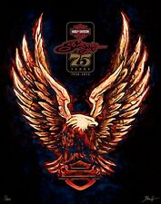 Sturgis 75th Anniversary Harley Davidson Limited Edition Print By Mathew Hintz