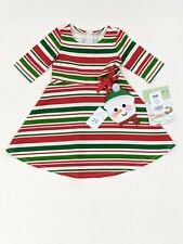 Bonnie Jean Girls Holiday Christmas Ballerina Nutcracker Shift Dress 4 5 6 6X