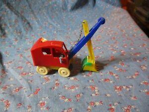 Vintage Allied Toys  Hard Plastic Steam Shovel  Winds