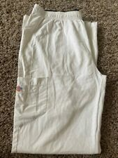 Medium White Unisex Dickies scrub pants