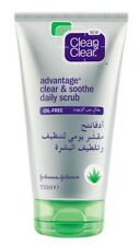 Clean and Clear Advantage Clear and Soothe Daily Scrub 150ml Aloe Vera NEW
