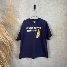 Vintage Y2K Family Guy Peanut Butter Jelly Time Navy TV Promo T-Shirt