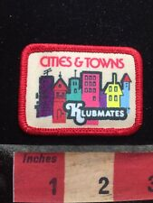 Colorful Klubmates CITIES & TOWNS Patch - Downtown Buildings Skyline 77WI