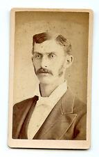 WALLET SIZE CABINET CARD PHOTOGRAPH OF GENTLEMAN, RAVENNA, OHIO