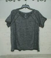 Livi Active By Lena Bryant Top Size 22/24 Short Sleeve Gray Blouse