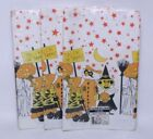 NICE LOT OF 3 VINTAGE FASHION ART HALLOWEEN TRICK OR TREAT TABLE COVERS