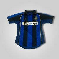 RARE Vintage 2001 NIKE Inter Milan Internazionale Soccer Jersey Mens Size Small