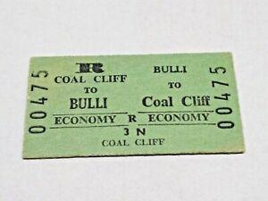 NSW RAILWAYS TRAIN TICKET COAL CLIFF TO BULLI