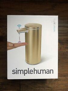 NIB Simplehuman Sensor Pump Soap Dispenser in Brass