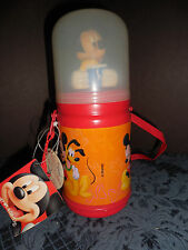 Vintage New Disney Mickey Mouse Insulated Thermoses Bottle Never Used