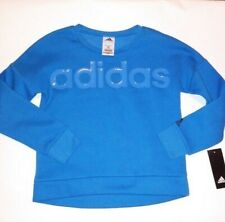 Adidas Kids Sweater Large 14 Blue Long Sleeve Crewneck