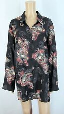 Paisley Pattern Viscose Long Sleeve Blouses for Women