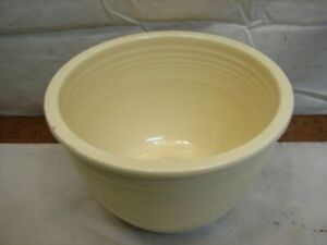 Vintage Fiesta Ware Ivory Off White #3 size Nesting Vintage Pottery Mixing Bowl