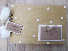 PERSONALISED LOVE STORY WOODEN SCRAPBOOK/PHOTO BOOK /MEMORIES