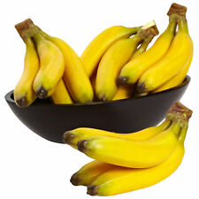 """Set of 4 Artificial Decorative Banana Bunches Fruits 9"""" Length (Fruits Only)"""
