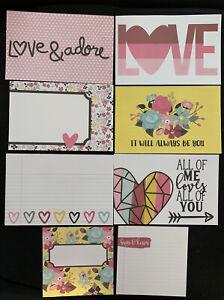 Simple Stories Love & Adore 4x4 4x6 Element Pieces Scrapbook Valentine's Day