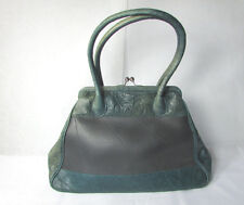 VINTAGE INSPIRED PASSCHAL ECO-LUXURY HAND BAG GREEN LEATHER & INNER TUBE INSERTS