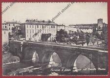MILANO CASSANO D'ADDA 15 PONTE CANALE MUZZA Cartolina viaggiata 1962