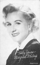 MARGARET WHITING AMERICAN SINGER ARCADE CARD NON-PC