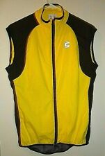 Vintage Cannondale Full Zip Cycling Vented sz Small Yellow Made In USA