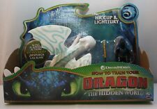 HOW TO TRAIN YOUR DRAGON THE HIDDEN WORLD HICCUP & LIGHTFURY FIGURE BLUE WINGS