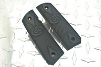 Classic Colt Double Diamond Check Blackout Polymer 1911 Grips Full Size