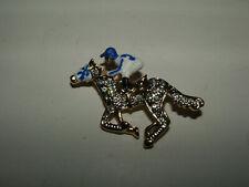 CUSTOM HORSE RACING JOCKEY SILKS RHINESTONE PIN SECRETARIAT RUFFIAN MAN O' WAR