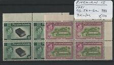Pitcairn Is. 1951 SG.5b & 6a Blocks