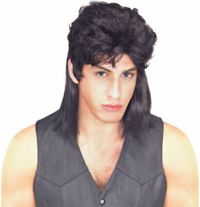 Black Mullet ADULT Wig Costume Accessory NEW Redneck Hillbilly 80s 70s