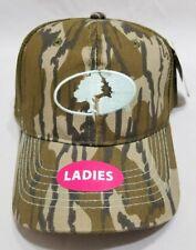 Mossy Oak Women's Camouflage W Blue Stitching Logo Snapback Baseball Cap NWT