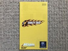 MANUAL ONLY Crazy Taxi -GameCube Instruction Manual Only FRENCH & DUTCH LANGUAGE